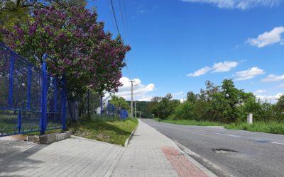 Fotografie projektu Vybudování chodníku vMetylovicích
